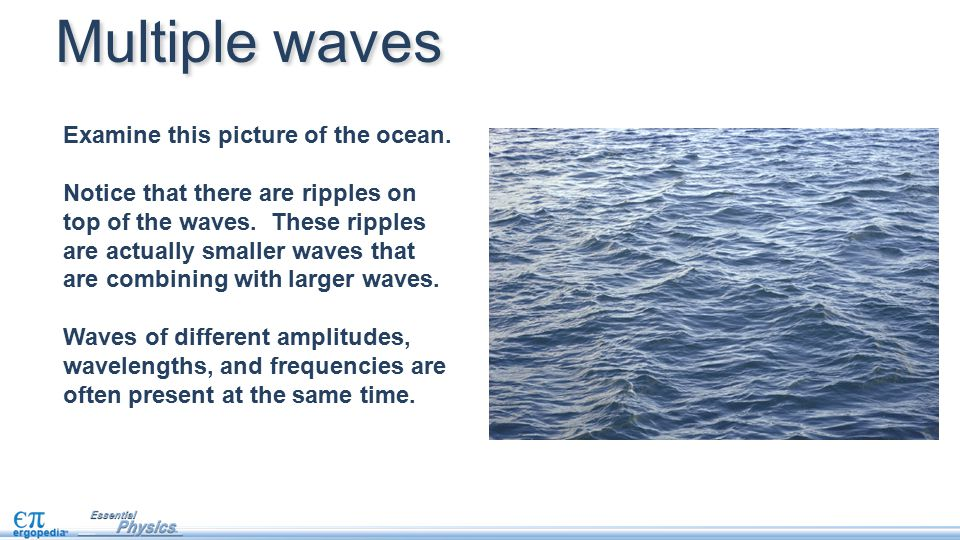 Multiple waves Examine this picture of the ocean.