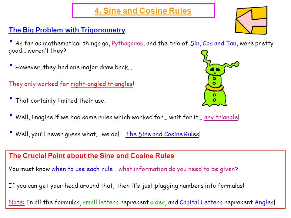 4. Sine and Cosine Rules The Big Problem with Trigonometry