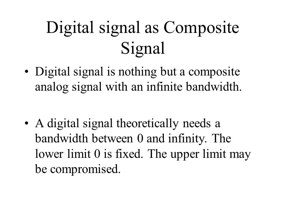 Digital signal as Composite Signal