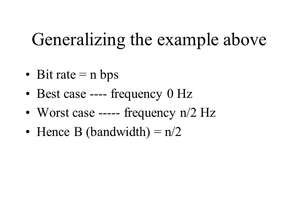 Generalizing the example above