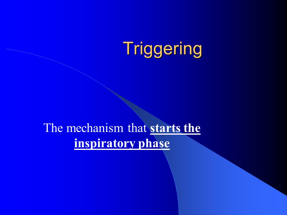 The mechanism that starts the inspiratory phase