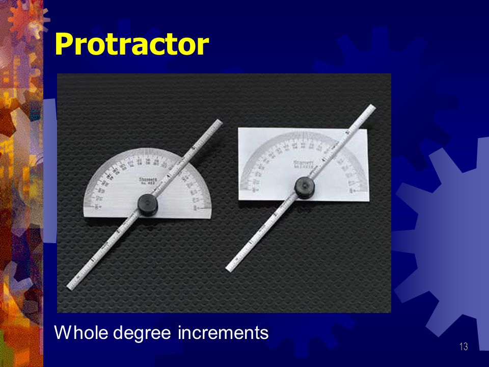 Protractor Whole degree increments