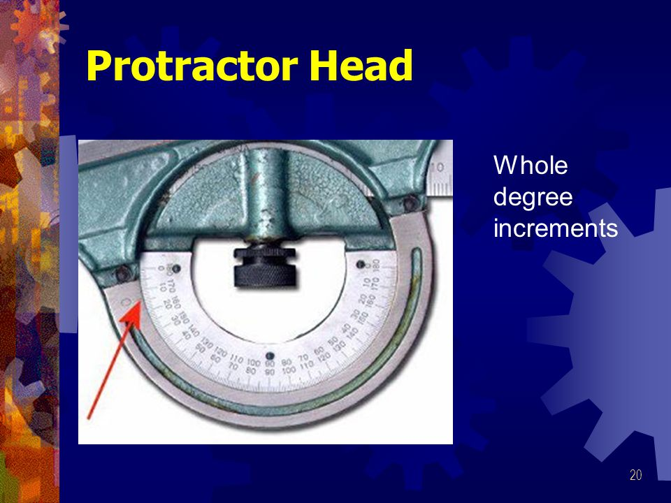 Protractor Head Whole degree increments