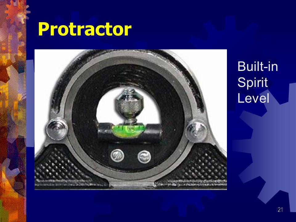 Protractor Built-in Spirit Level