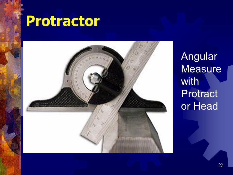 Protractor Angular Measure with Protractor Head