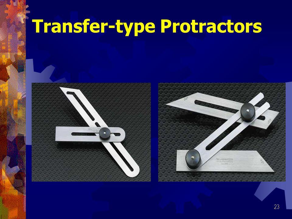 Transfer-type Protractors