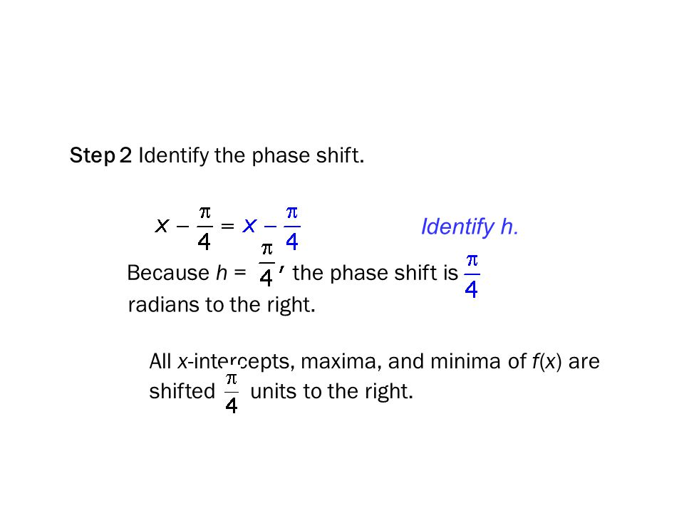 Step 2 Identify the phase shift.
