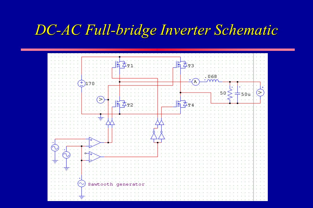 DC-AC Full-bridge Inverter Schematic