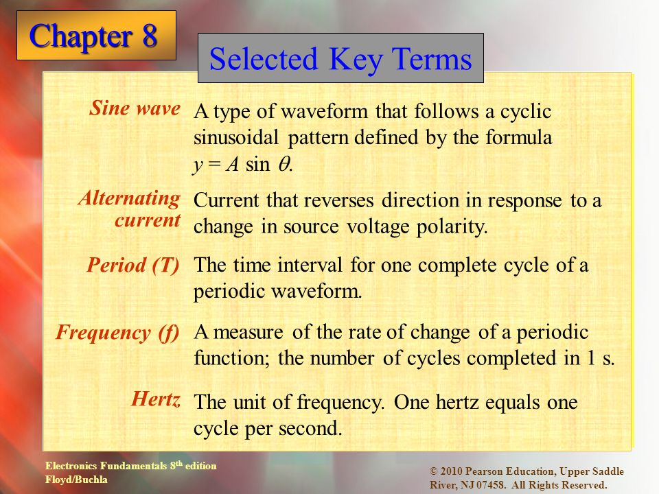 Selected Key Terms Sine wave