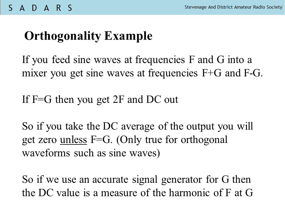 Orthogonality Example