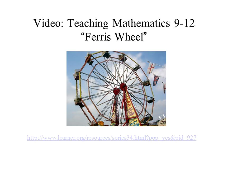 Video: Teaching Mathematics 9-12 Ferris Wheel