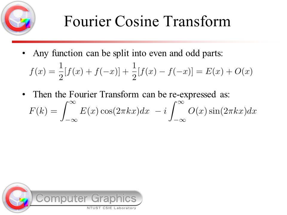 Fourier Cosine Transform