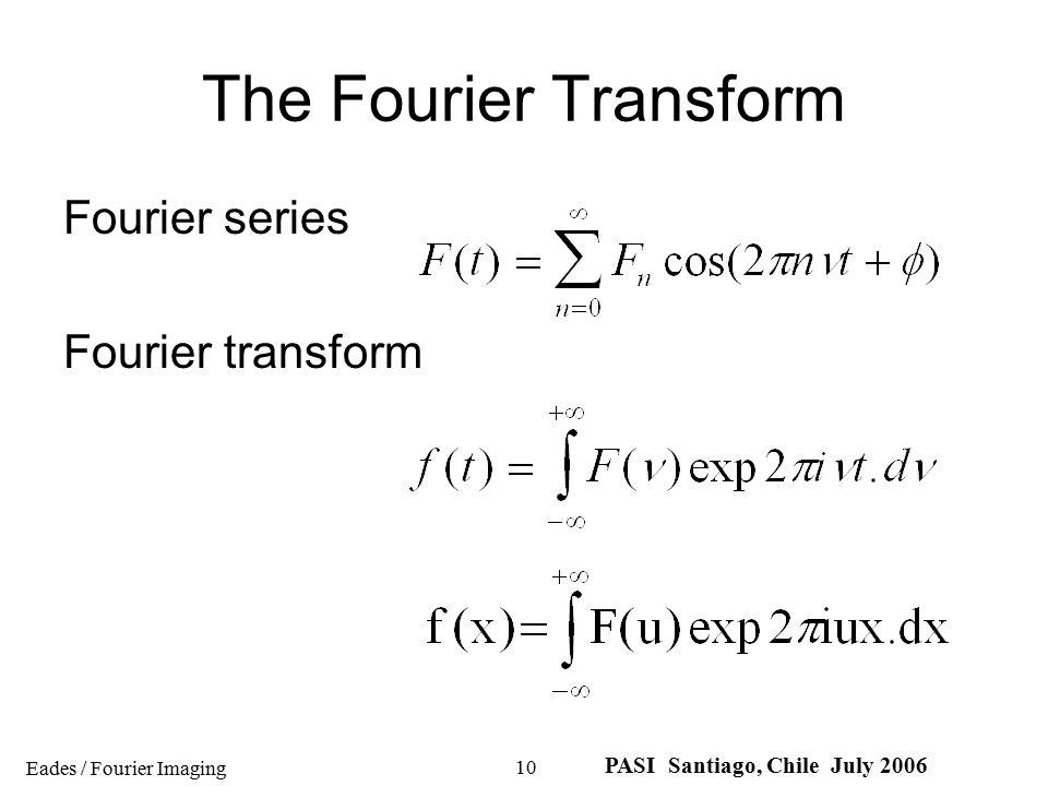 The Fourier Transform Fourier series Fourier transform