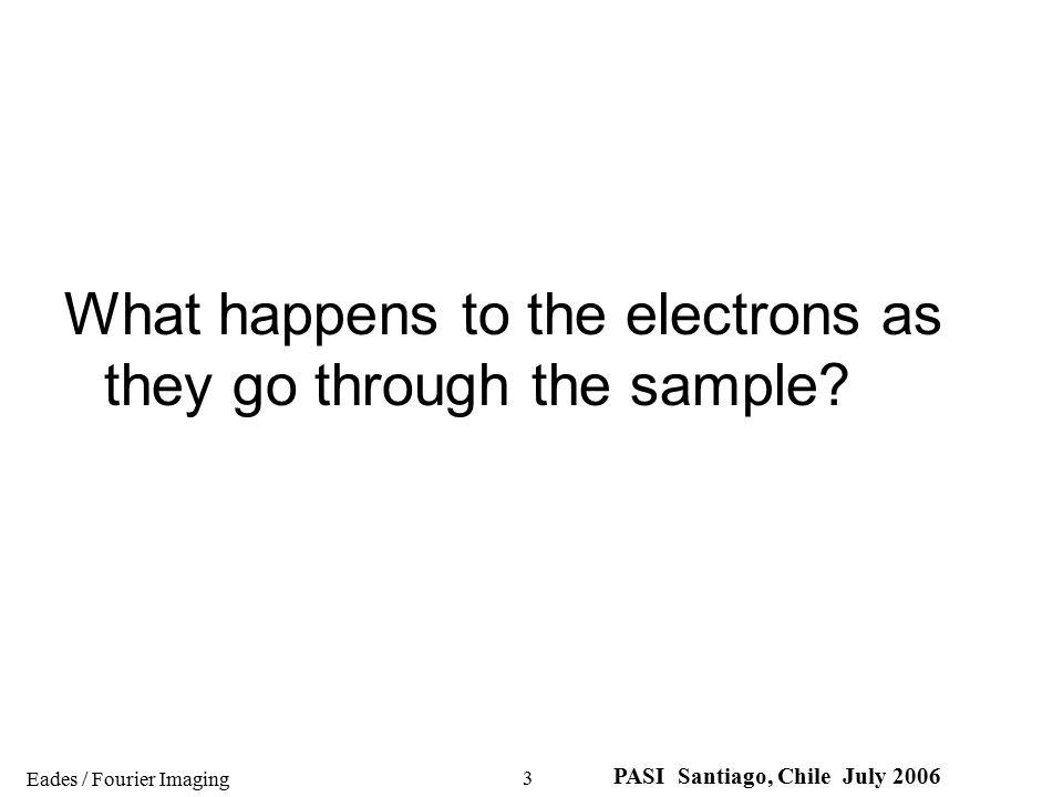 What happens to the electrons as they go through the sample