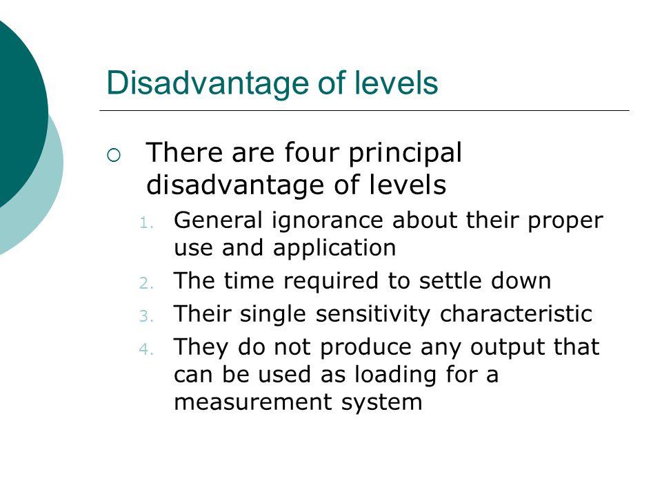 Disadvantage of levels