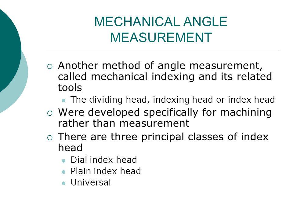 MECHANICAL ANGLE MEASUREMENT