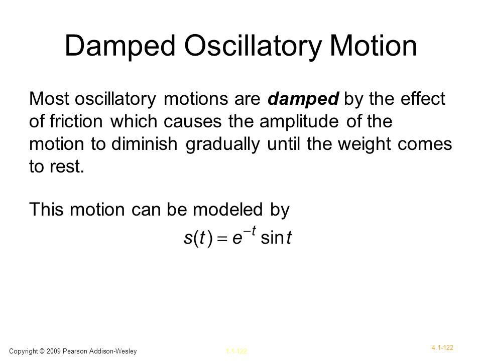 Damped Oscillatory Motion