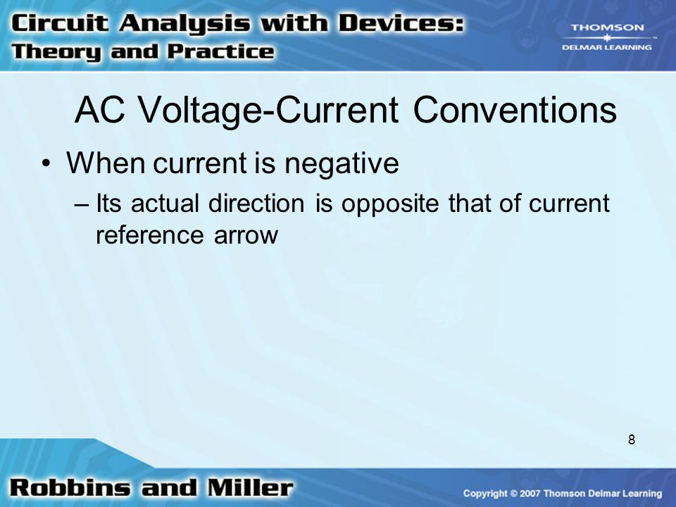 AC Voltage-Current Conventions