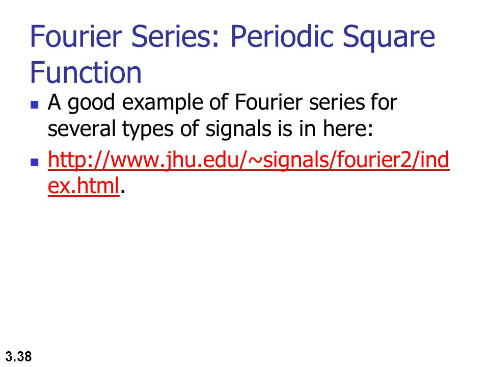 Fourier Series: Periodic Square Function