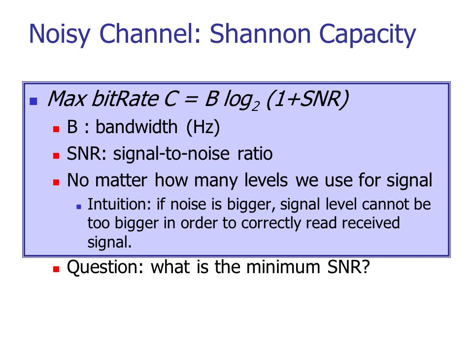 Noisy Channel: Shannon Capacity