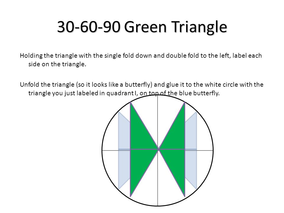 30-60-90 Green Triangle