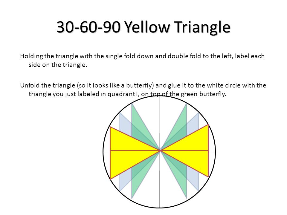 30-60-90 Yellow Triangle