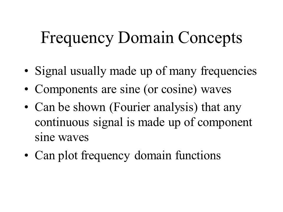 Frequency Domain Concepts