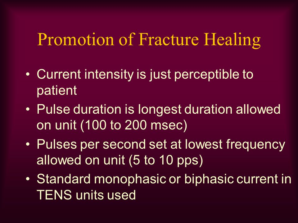 Promotion of Fracture Healing