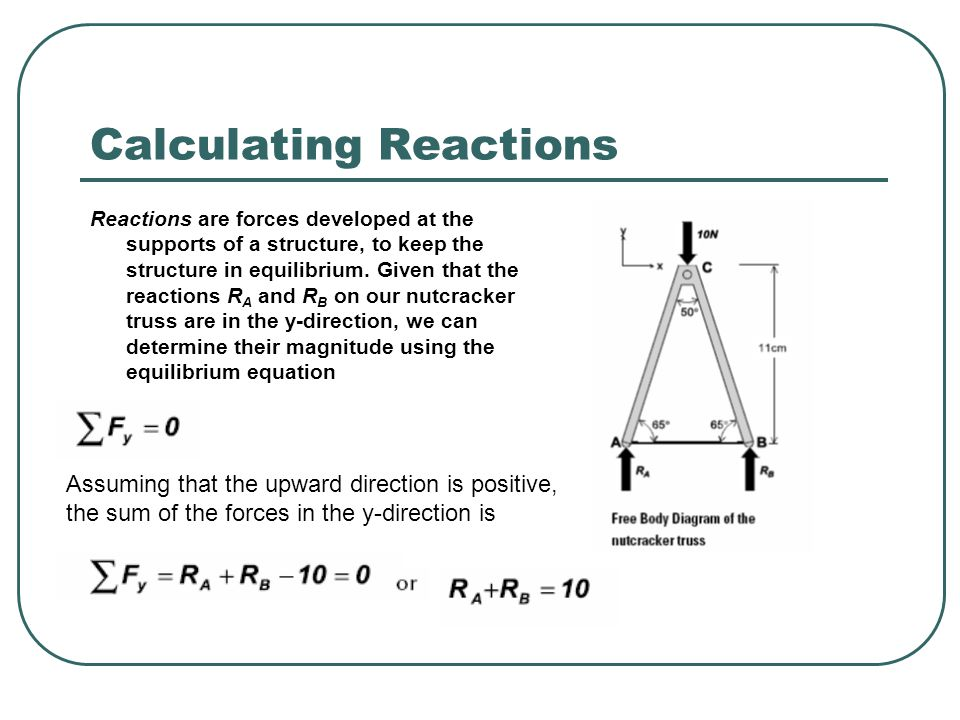 Calculating Reactions