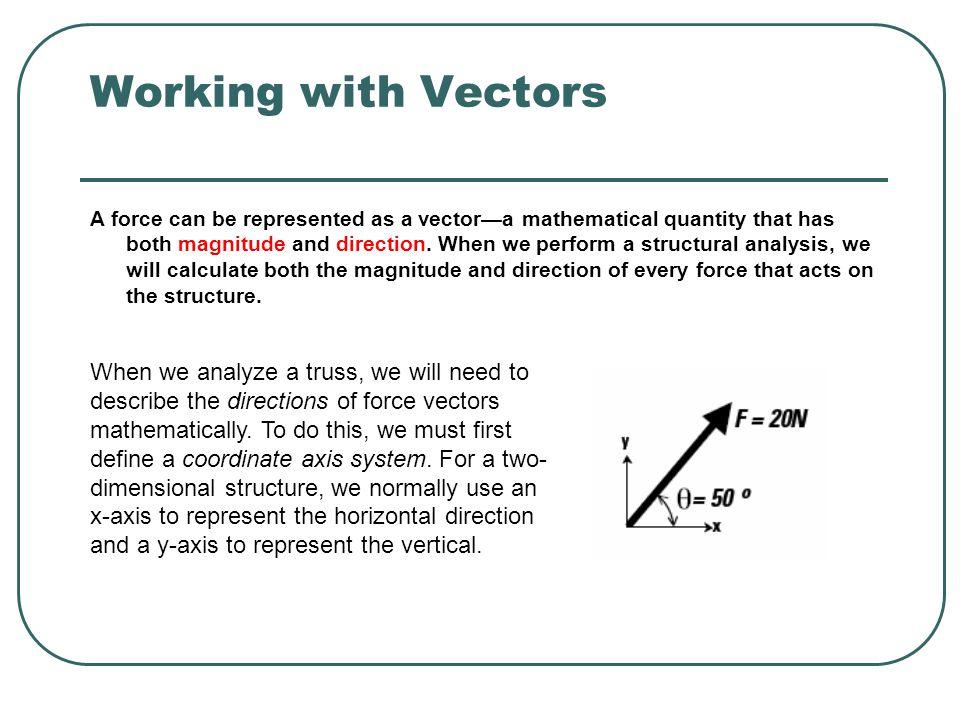 Working with Vectors