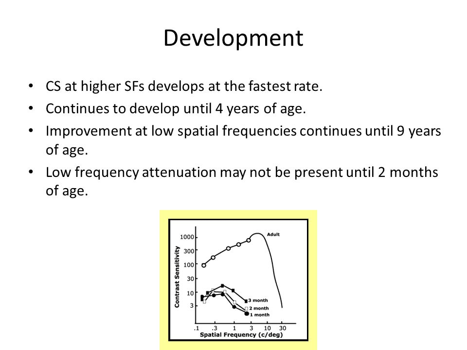 Development CS at higher SFs develops at the fastest rate.