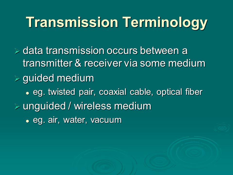 Transmission Terminology