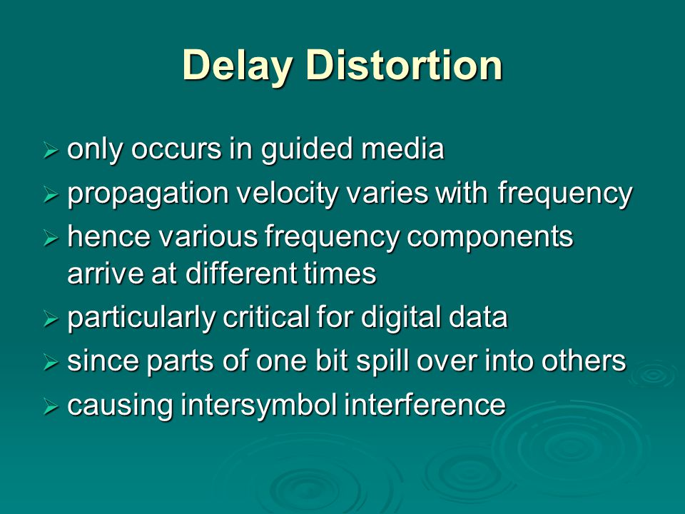 Delay Distortion only occurs in guided media