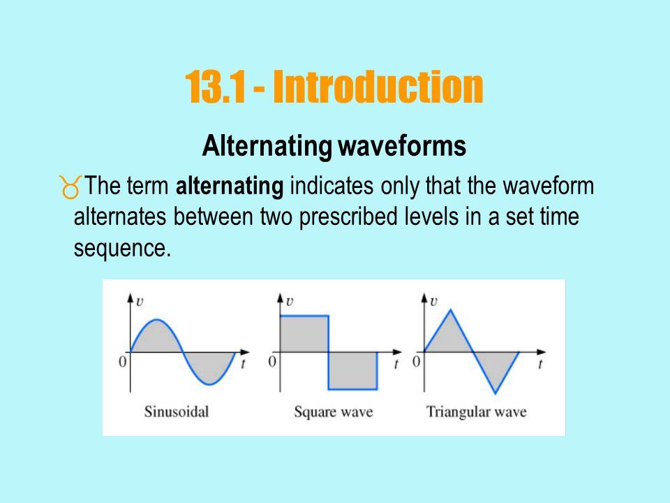 Alternating waveforms