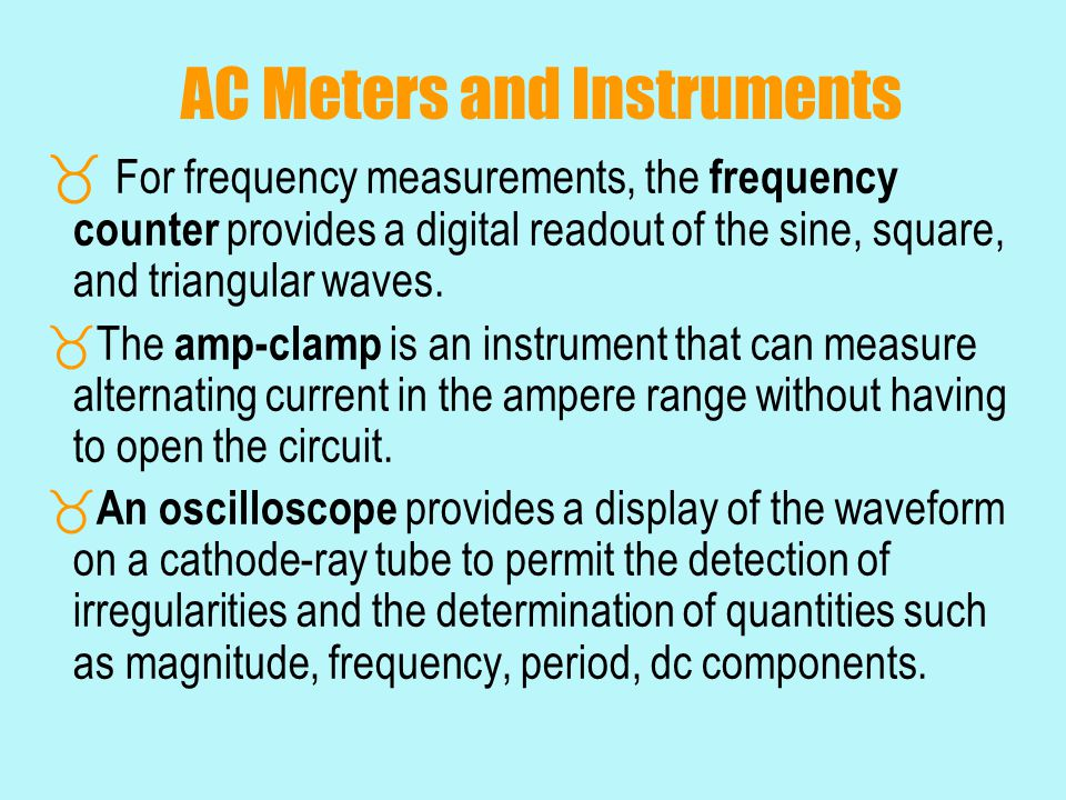 AC Meters and Instruments