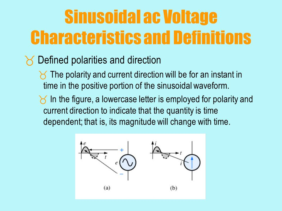Sinusoidal ac Voltage Characteristics and Definitions