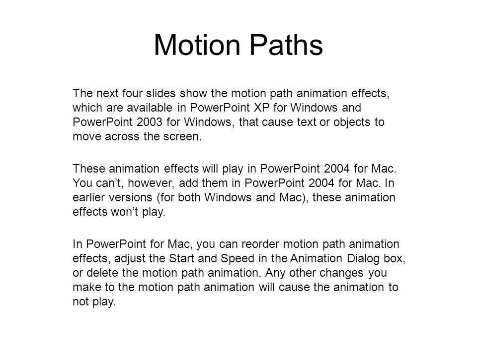Motion Paths