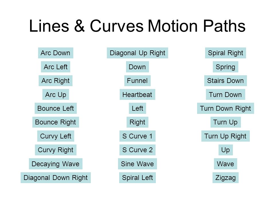 Lines & Curves Motion Paths