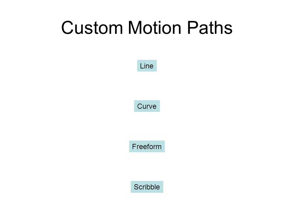 Custom Motion Paths Line Curve Freeform Scribble