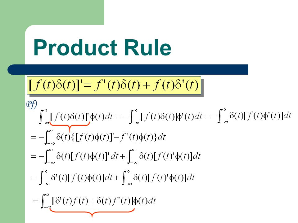 Product Rule Pf)