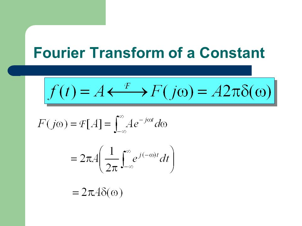 Fourier Transform of a Constant