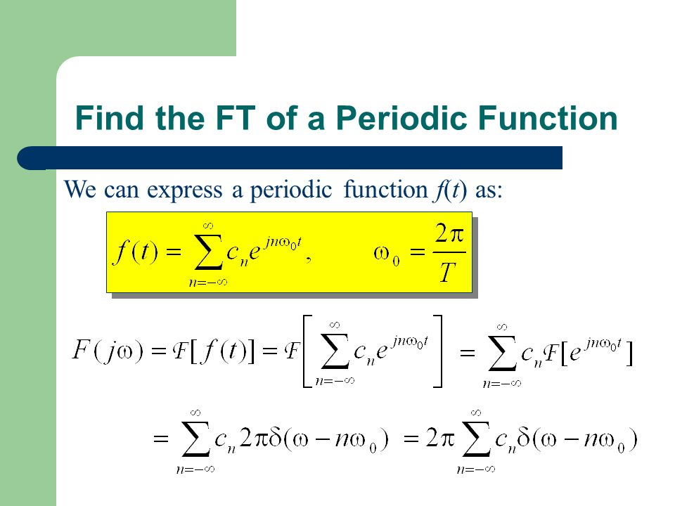 Find the FT of a Periodic Function