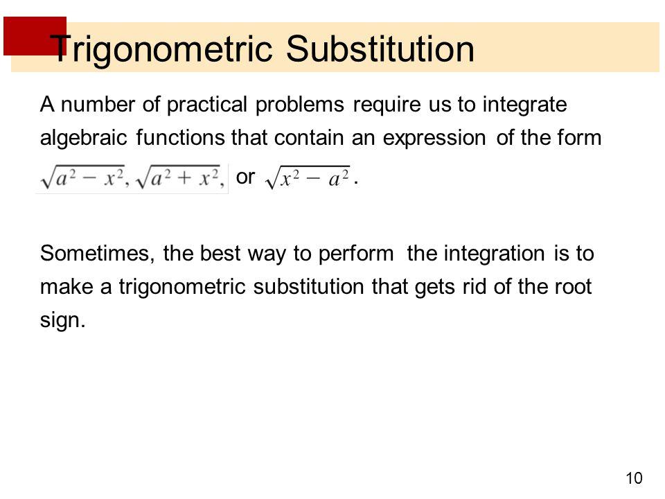 Trigonometric Substitution