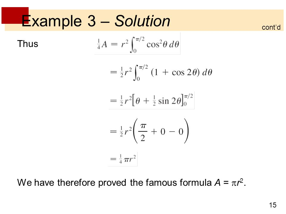 Example 3 – Solution Thus