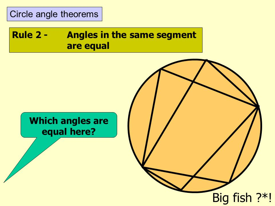 Which angles are equal here