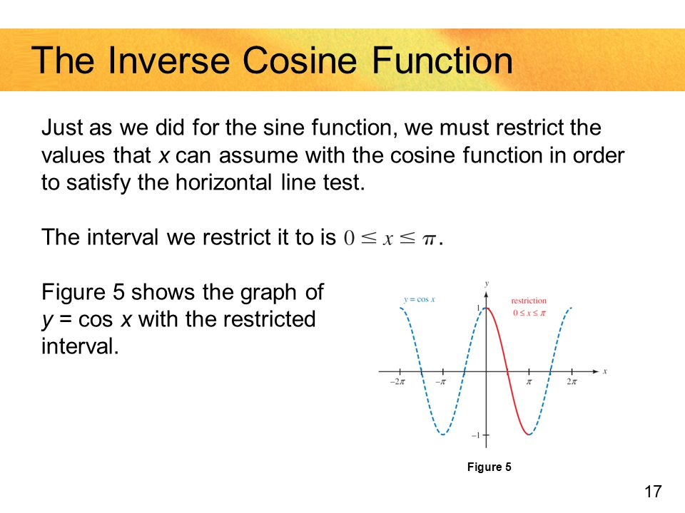 The Inverse Cosine Function
