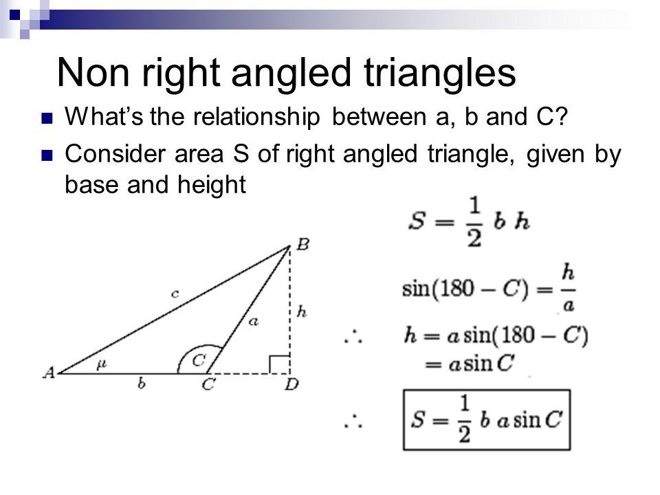 Non right angled triangles