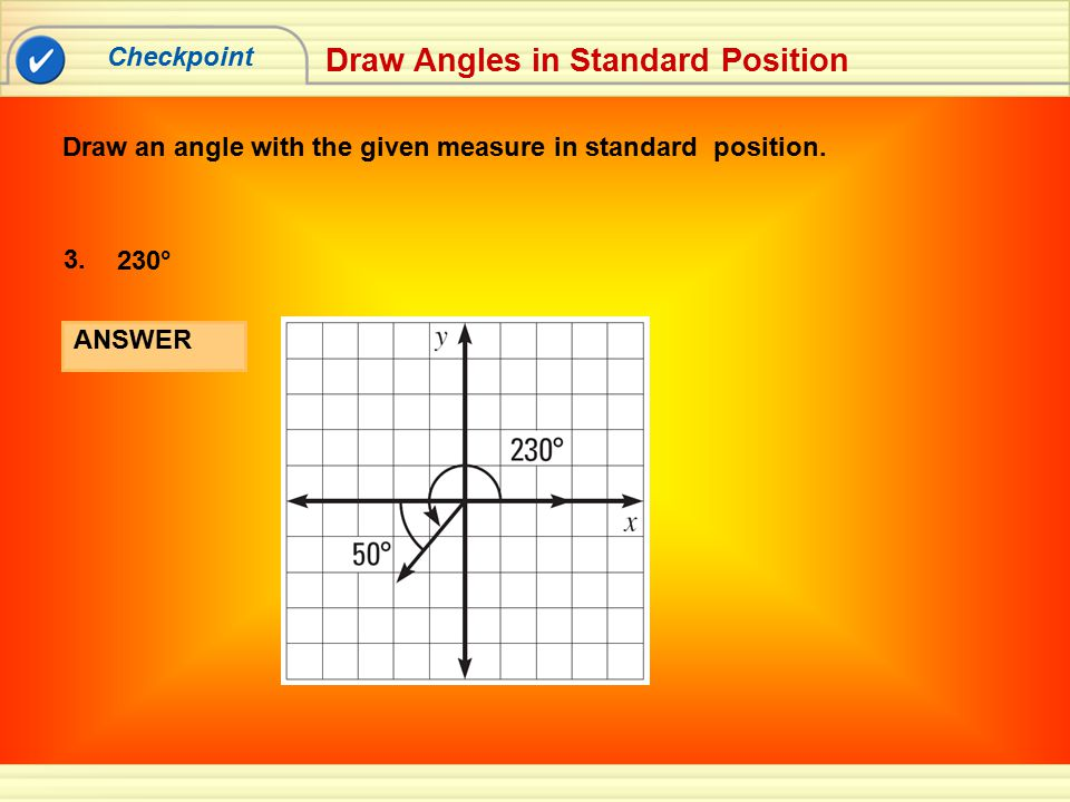 Draw Angles in Standard Position