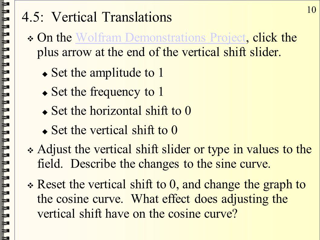 4.5: Vertical Translations