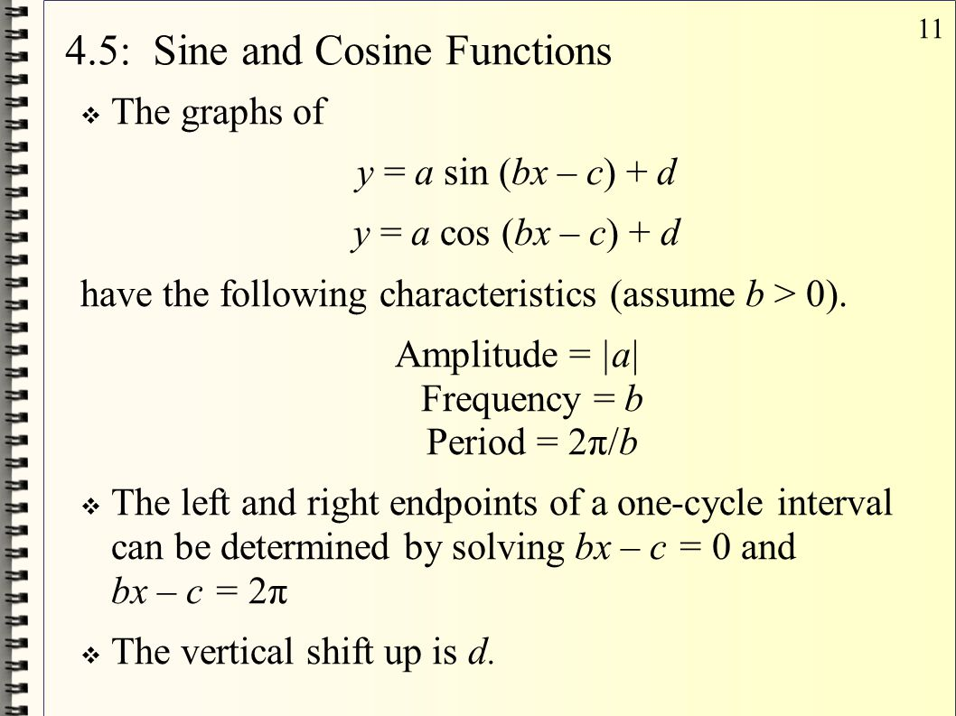 4.5: Sine and Cosine Functions
